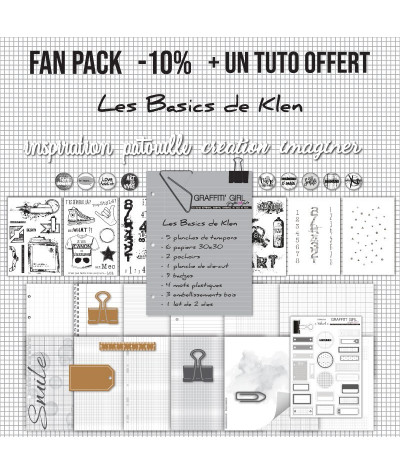 "Fan pack ""Les basics"" -10% et un tuto , tampon chiffre, tampon grunge, tampon etiquettes, tampon beau-art, tampon chevalet, tamp"