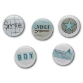 "Badges ""Géomavie"" pour scrapbooking à coller avec de la mousse 3D , embellissements"