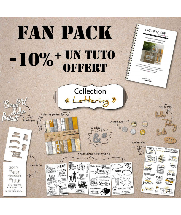 "Fan Pack collection ""Lettering"""