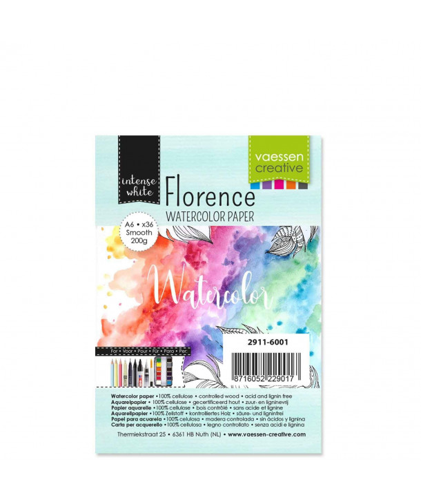 Lot de 36 papiers A6 aquarelle