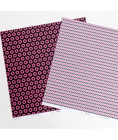 "Lot de 10 papiers 30x30 ""Oh my oeillets/triangles"""