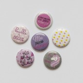 "Badges ""Ptite puce"" scrapbooking, fille, enfant, bébé , girl , licorne, bisous, coeur, tendresse, câlins, rose, girly"
