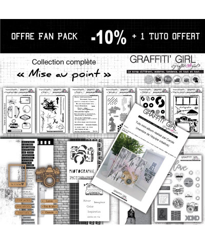 "Fan pack ""Mise au point"" -10% et un tuto de mini album"