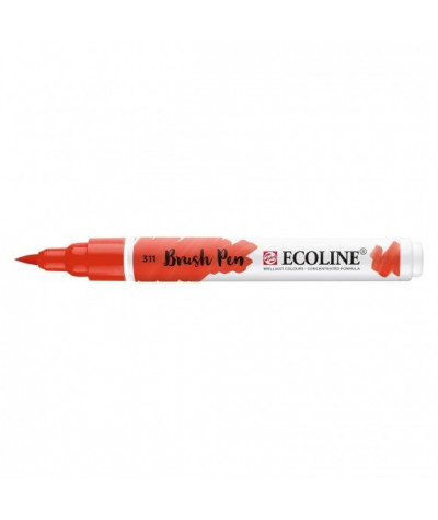 Feutre Ecoline brush-pen Vermillon n°311