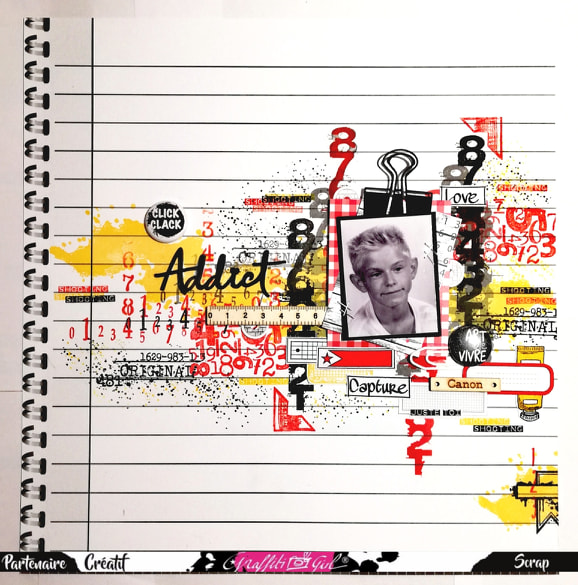 page scrap graffiti girl collection school