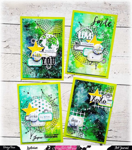 carte art journal avec la planche graphic de graffiti girl