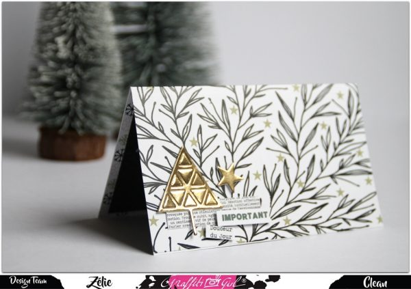 tuto carte de scrapbooking avec le dies Arbre à Triangles de Graffiti Girl