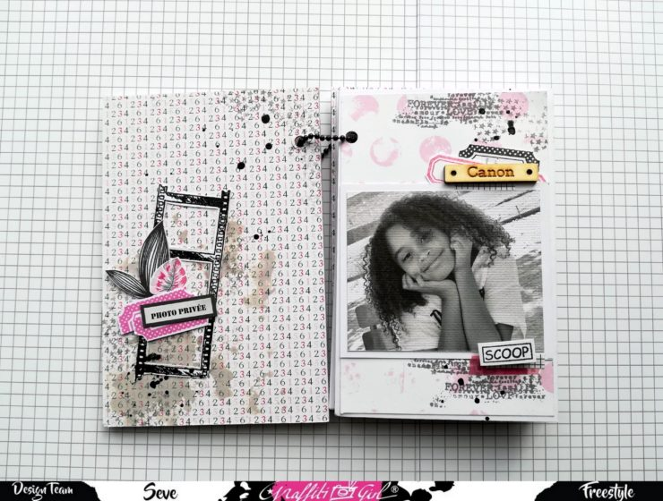 album photo scrap octobre rose, girly