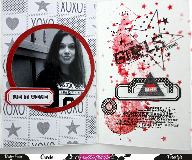mini album scrap avec stickers Intemporelle de la marque Graffiti Girl